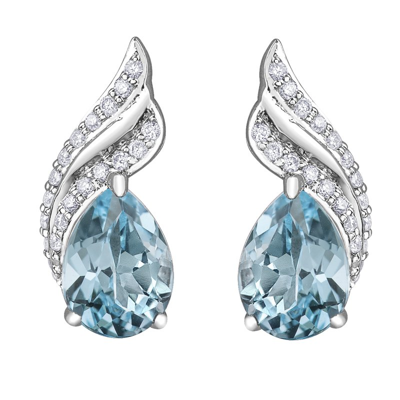 Timeless Beauty Sky Blue Topaz Earrings