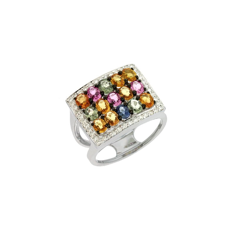 S. Kashi  & Sons Multi Color Sapphire Ring