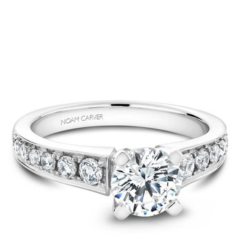 Noam Carver Modern Engagement Ring B006-02A