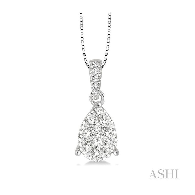 ASHI pear shape lovebright diamond pendant