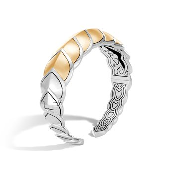 Legends Naga 18.5MM Cuff in Silver and Brushed 18K Gold
