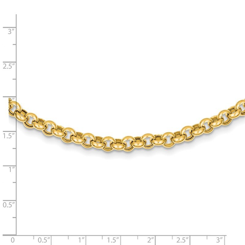 Quality Gold 14k 18in 6.25mm Polished Fancy Rolo Link Necklace