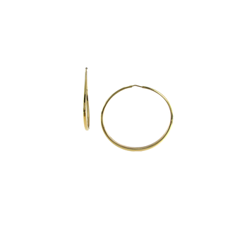 18KT GOLD LARGE ROUND GRADUATED HOOP EARRINGS