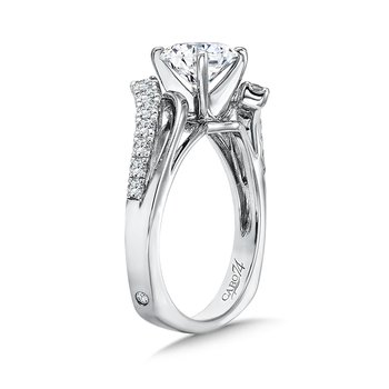 Modernistic Collection Diamond Bypass Criss Cross Engagement Ring in 14K White Gold with Platinum Head (1-1/4ct. tw.)