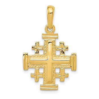 14k Jerusalem Cross Pendant