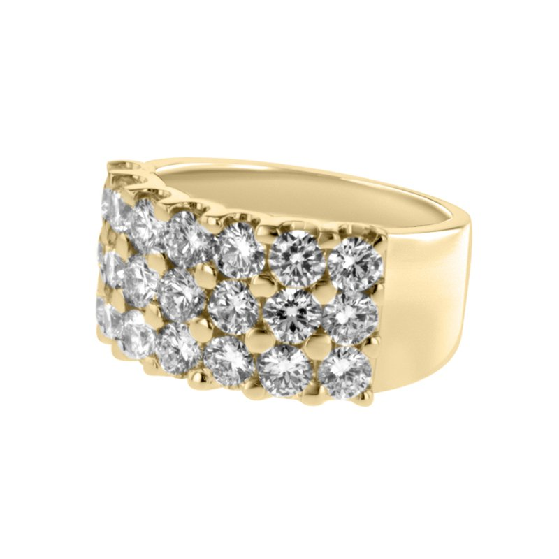 S. Kashi  & Sons Yellow Gold Diamond Wedding Band