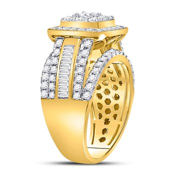 14kt Yellow Gold Womens Princess Diamond Solitaire Bridal Wedding Engagement Ring 2.00 Cttw