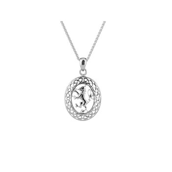Scottish Lion Rampant Pendant Oval