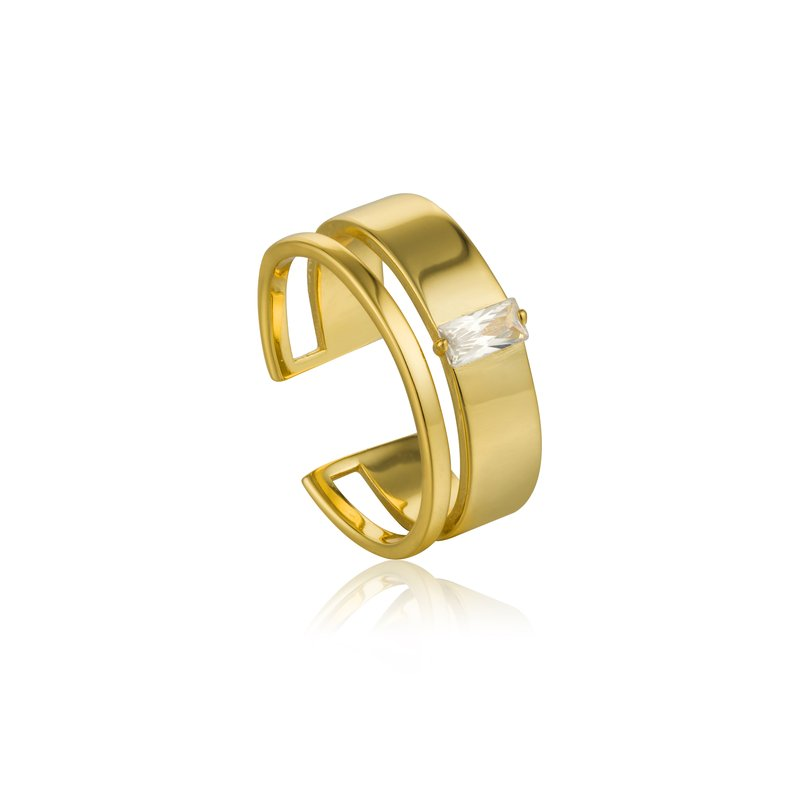 Ania Haie Glow Wide Adjustable Ring