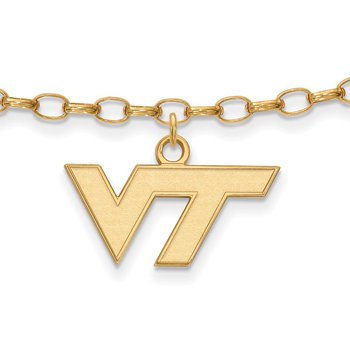 Gold-Plated Sterling Silver Virginia Tech NCAA Bracelet
