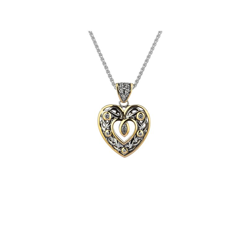 Keith Jack Celtic Open Heart Pendant Small