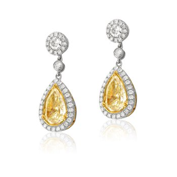 Yael Fancy Yellow Diamond Earrings