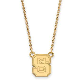 Gold-Plated Sterling Silver North Carolina State University NCAA Necklace