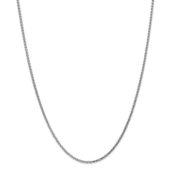 Leslie's 14K White Gold 1.8mm Solid D/C Spiga Chain