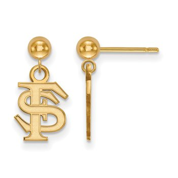 Gold Florida State University NCAA Earrings