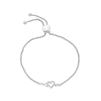 Essentials .05 ct Sterling Silver Diamond Bolo Bracelet