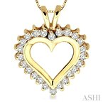 Barclay's Signature Collection heart shape diamond pendant