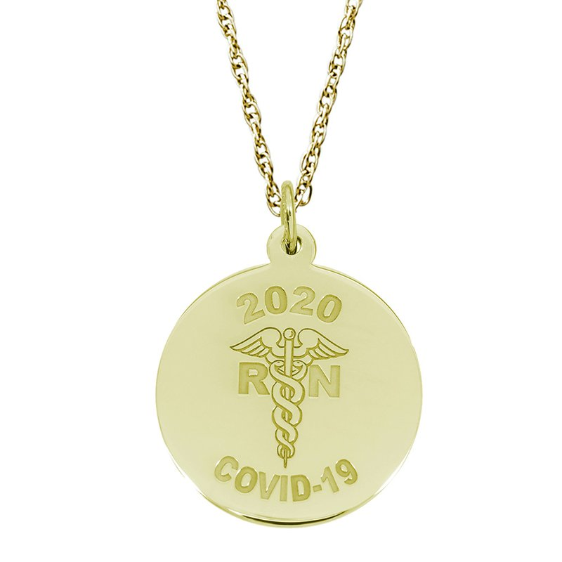 Rembrandt Charms Covid-19 RN Caduceus Necklace Set