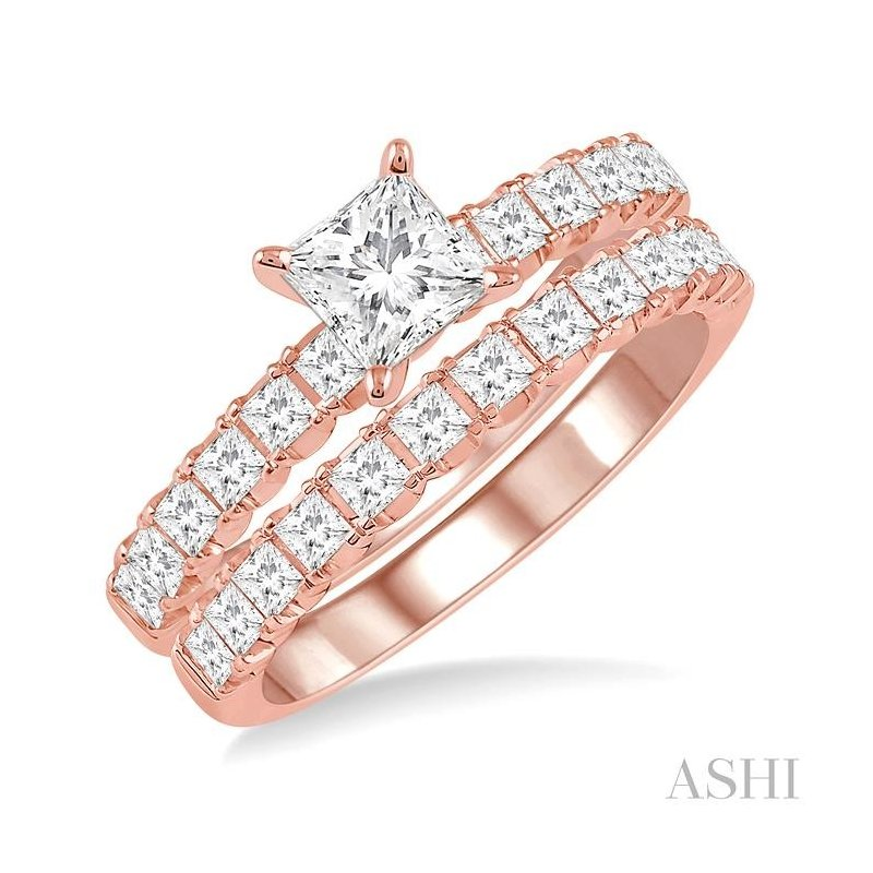 ASHI endless embrace diamond wedding set