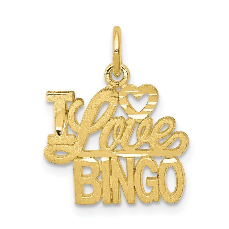 Quality Gold 10K I LOVE BINGO Charm