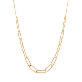 Theodora | Graduated Paper Clip Necklace