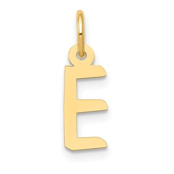 14k Small Slanted Block Letter E Initial Charm