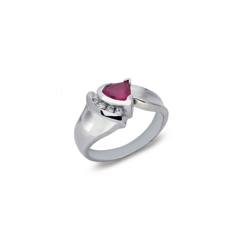 S. Kashi  & Sons Ruby & Diamond Ring