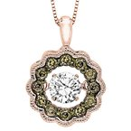 Rhythm of Love 14KP Brown & White Diamond Rhythm Of Love Pendant 3/8 ctw