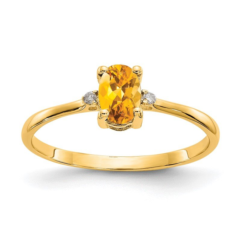 JC Sipe Essentials 14k Diamond & Citrine Birthstone Ring