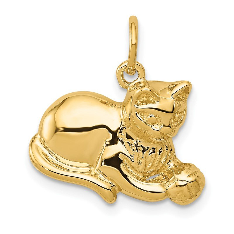 Quality Gold 14k Cat Charm