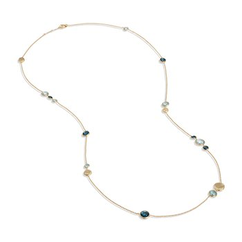 Jaipur Mixed Blue Topaz Long Necklace