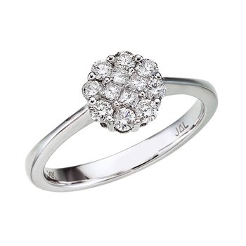 14K White Gold Diamond Clustaire Ring (.50 carat)