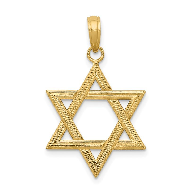 Quality Gold 14k Polished Star of David Pendant