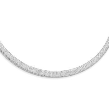 14K White Gold Stretch Mesh w/1.5in ext. Necklace