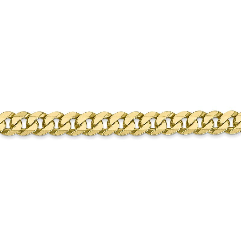 Leslie's Italian Gold Leslie's 10K 5.75mm Flat Beveled Curb Chain