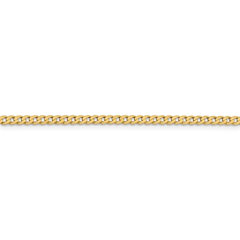 Leslie's Leslie's 14K 2.3mm Flat Beveled Curb Chain