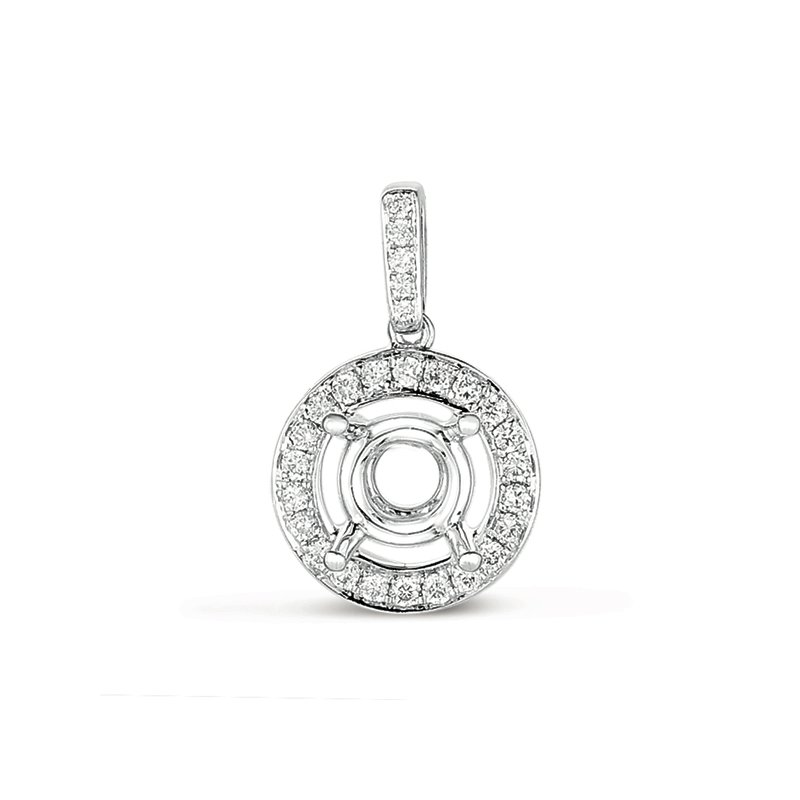 S. Kashi  & Sons Diamond Pendant For.15ct Round Stone