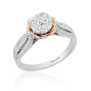 14KWP 1/2CTW Belle Composite Bridal Ring