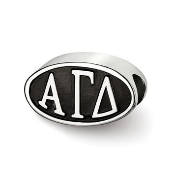 Sterling Silver Alpha Gamma Delta Greek Life Bead