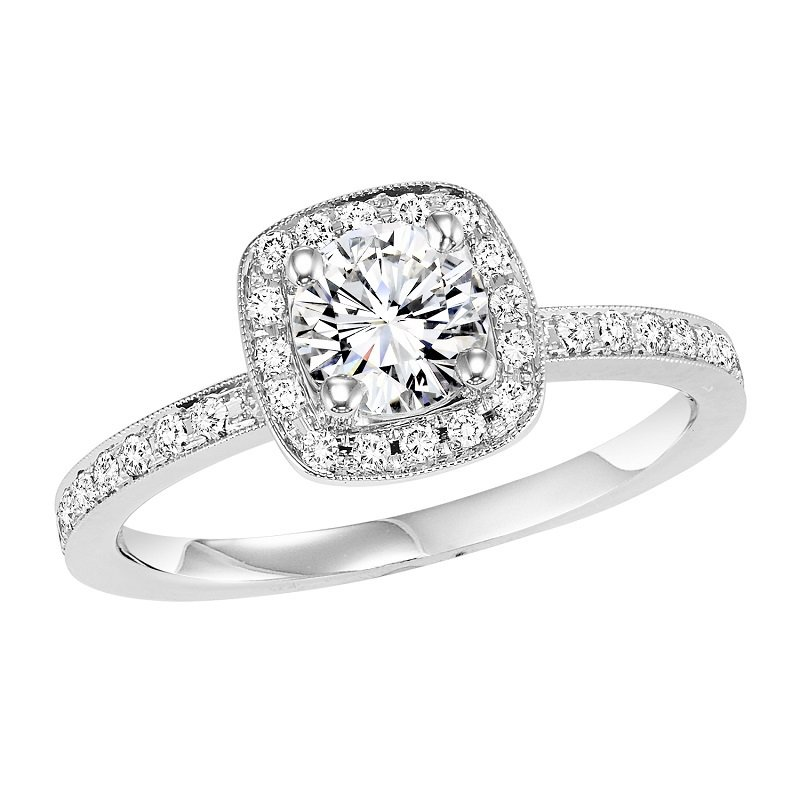 Bridal Bells 14K Diamond Engagement Ring 1/4 ctw with 5/8 ct Center