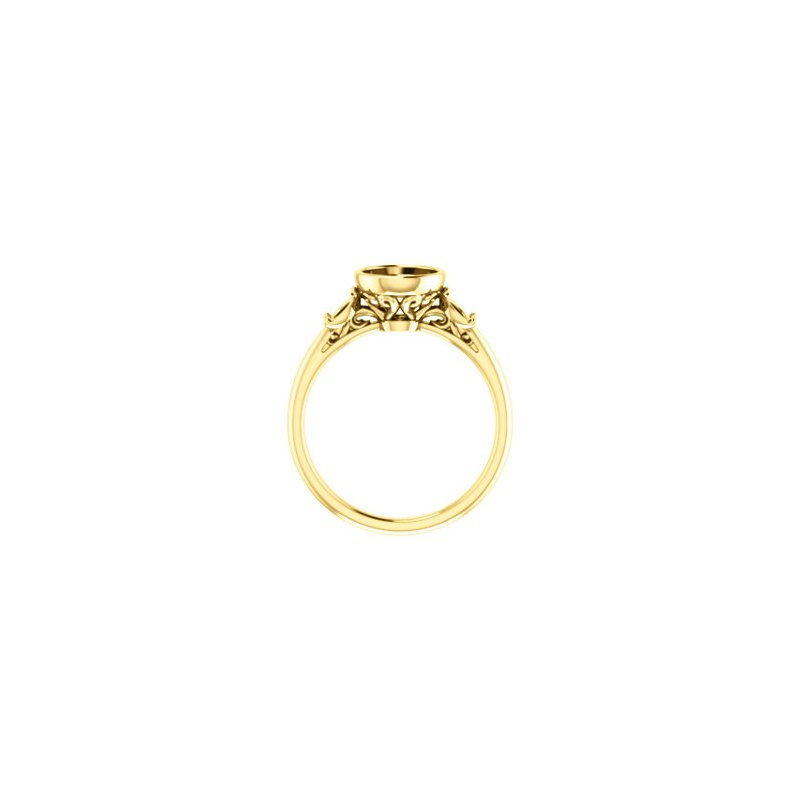 18K Yellow 7 mm Round Bezel-Set Engagement Ring Mounting