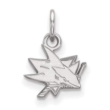 Gold San Jose Sharks NHL Pendant