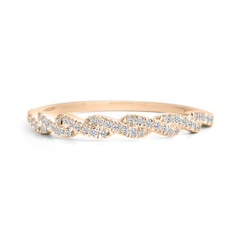 Twisted Dainty Diamond Band