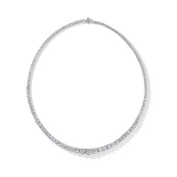 Platinum Scalloped Diamond Necklace