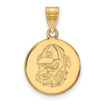 Gold University of Georgia NCAA Pendant