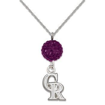 Sterling Silver Colorado Rockies MLB Necklace