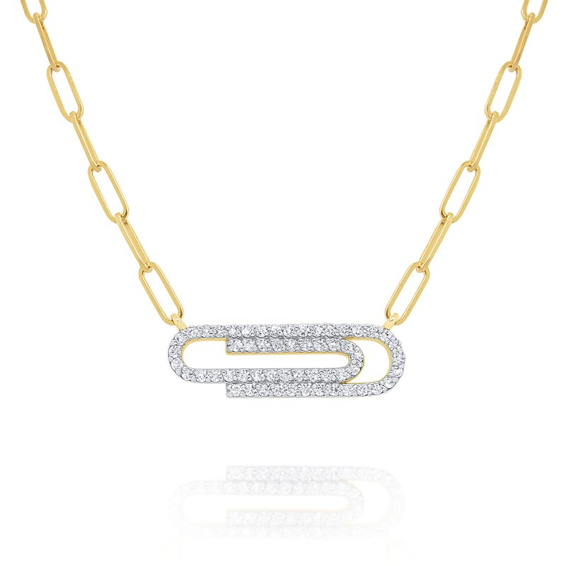 KC Designs 14k Gold and Diamond Paperclip Necklace