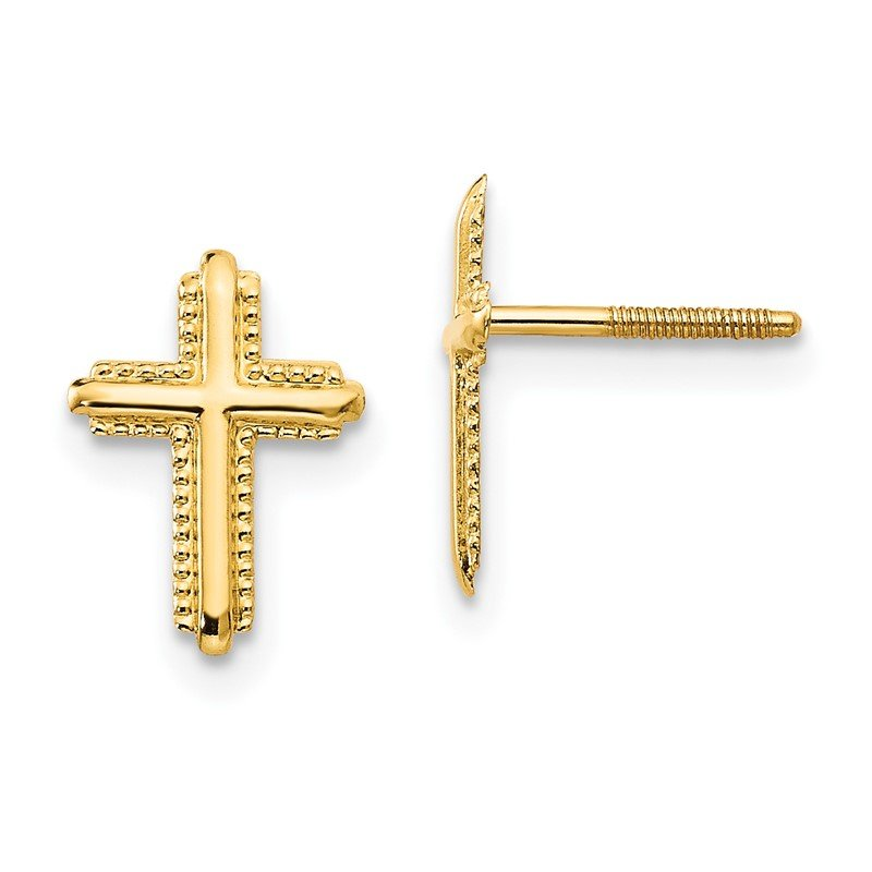 Quality Gold 14k Madi K Cross Post Earrings