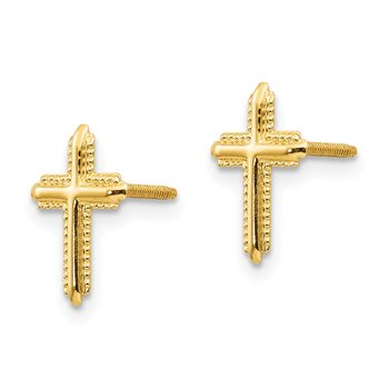 14k Madi K Cross Post Earrings