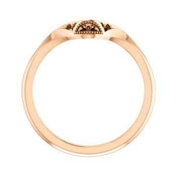 18K Rose Matching Band Mounting for Oval Ring
